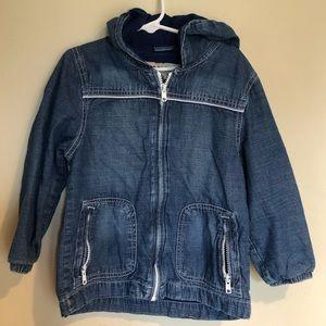 Gymboree hooded/lined soft denim/chambray jacket